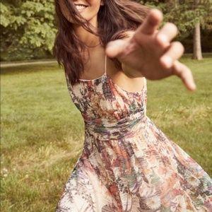 Anthropologie Maeve Mesh Mackenzie Floral Dress